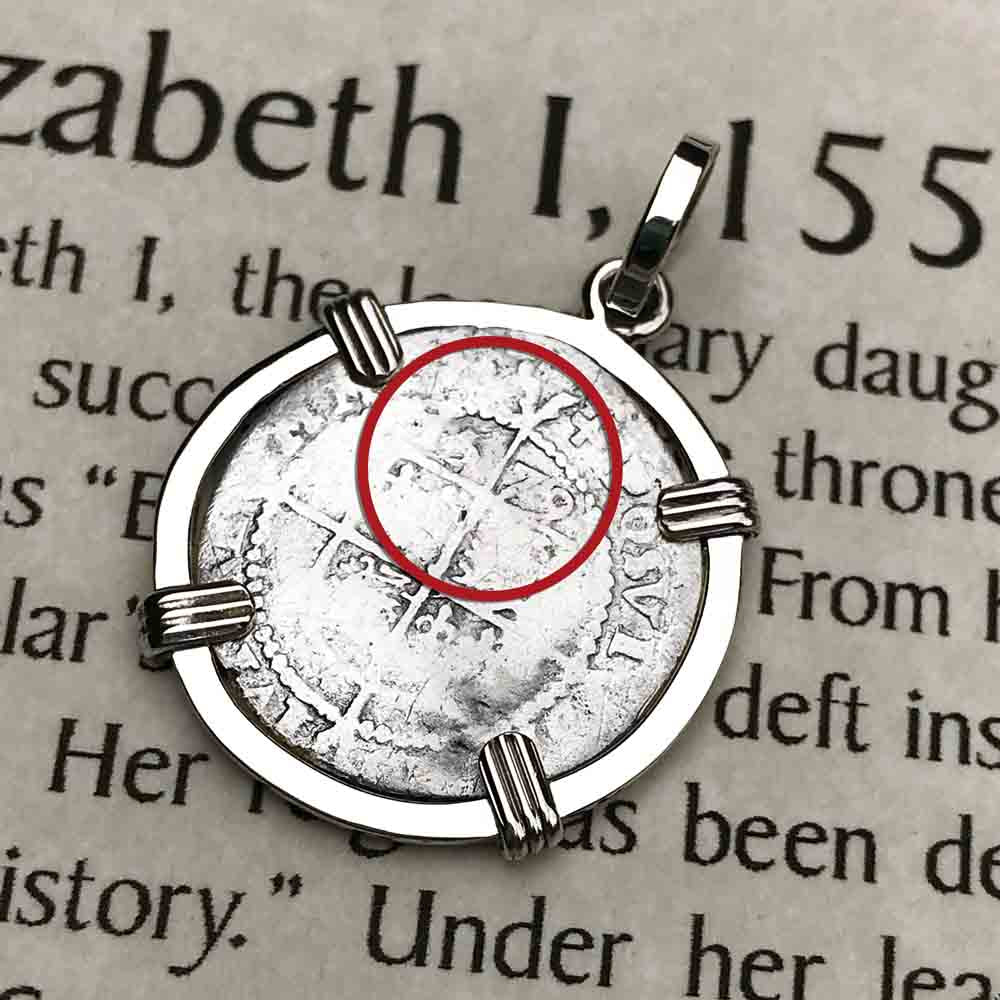 Elizabeth I 1579 Silver Three Pence Necklace in Sterling Silver