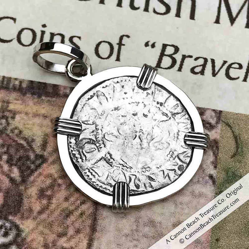 "Edward I ""The Longshanks"" Hand-Hammered Braveheart Era Silver Penny Pendant"