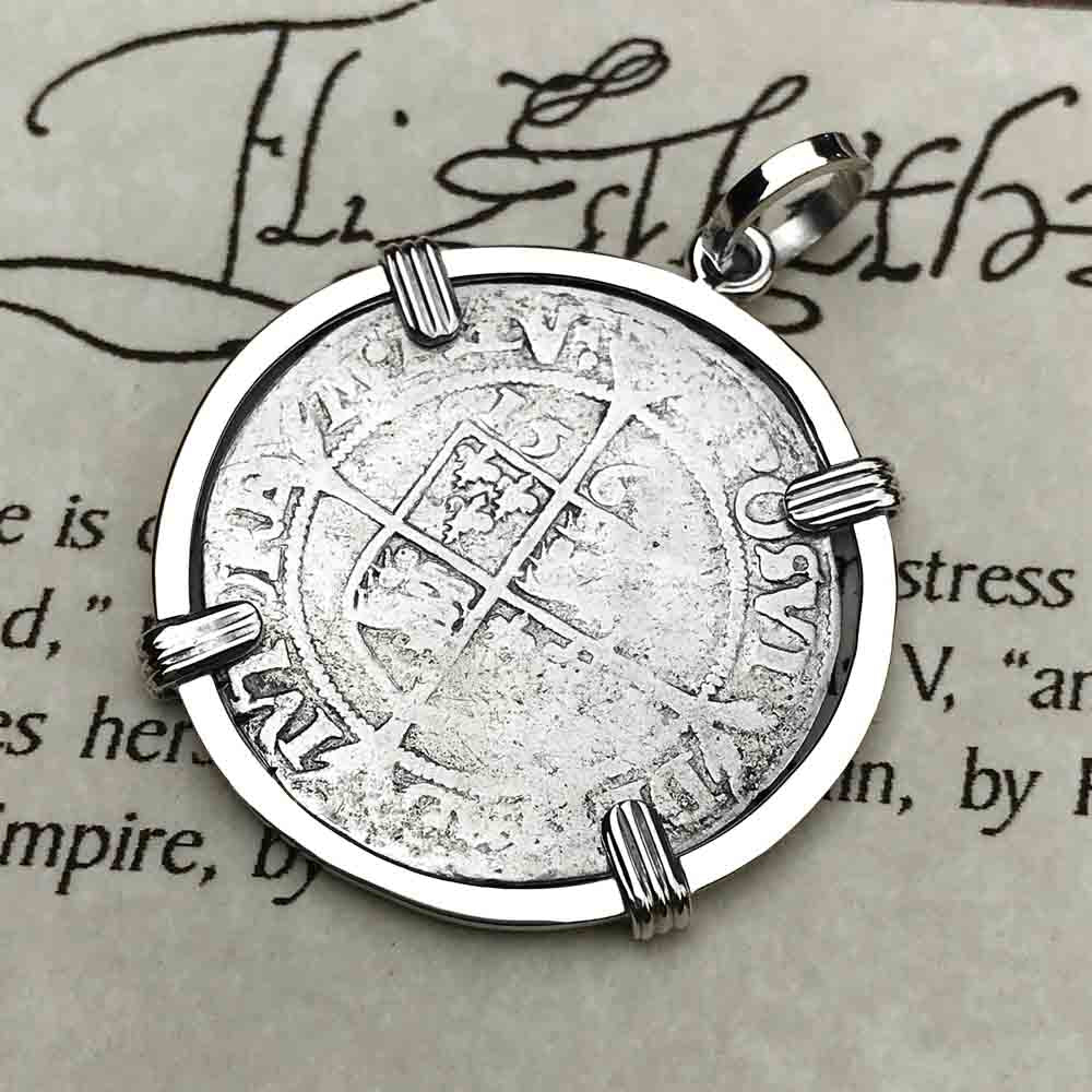 Elizabeth I 1566 Silver Six Pence Sterling Silver Necklace