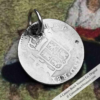 "Pirate Chic 1 Reale Spanish Portrait Dollar - the Legendary ""Piece of Eight"" Necklace"