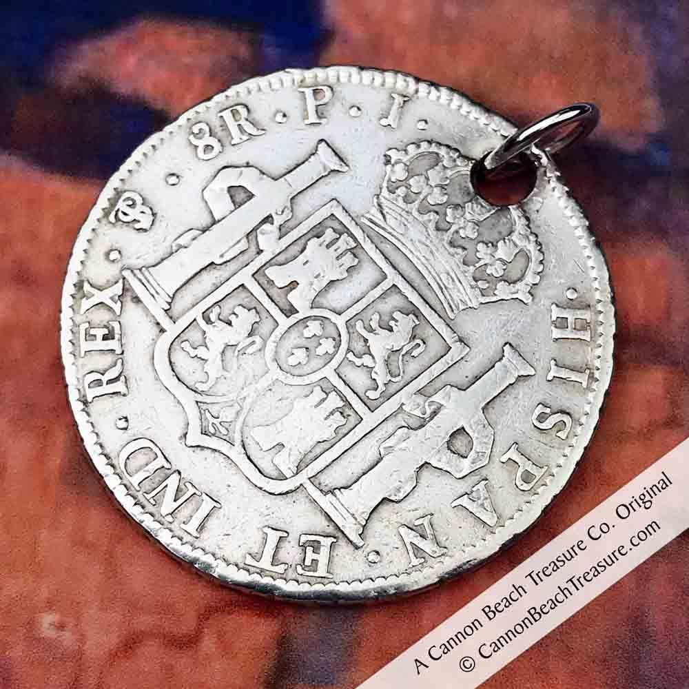 "Pirate Chic 8 Reale Spanish Portrait Dollar Dated 1809 - the Legendary ""Piece of Eight"" Necklace 