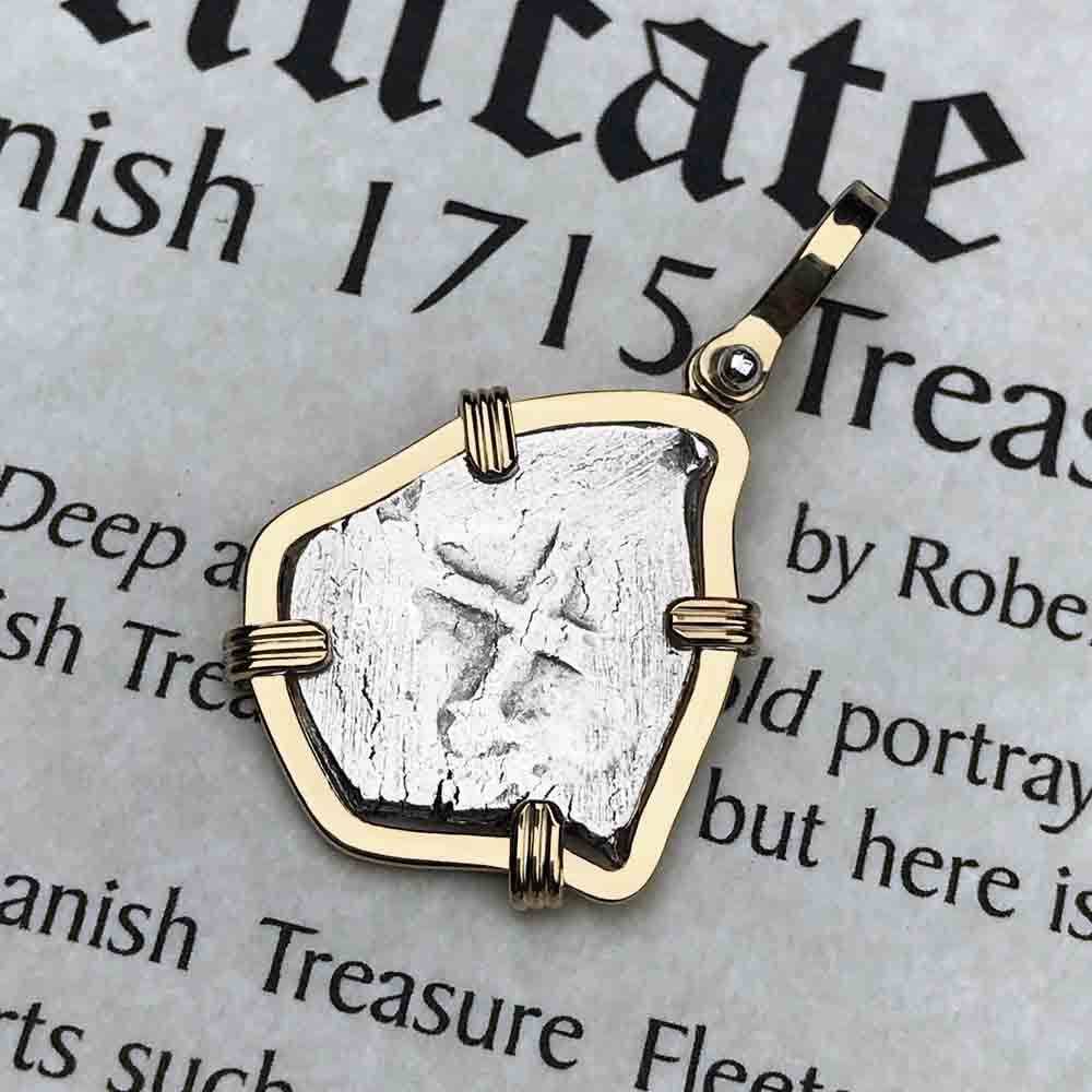 1715 Fleet Shipwreck 1 Reale Piece of Eight 14K Gold  Necklace - NASA Frank Vaughn Collection