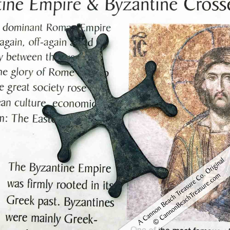 Large Medieval Byzantine Cross Necklace circa 1100 AD | Artifact #5123