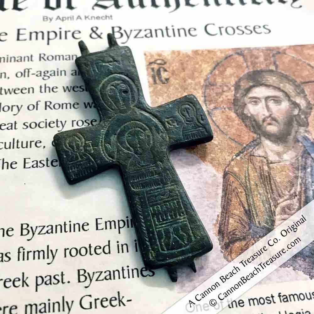 Medieval Byzantine Cross Necklace circa 1100 AD