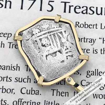 1715 Fleet Shipwreck 4 Reale 18K Necklace with Rare Mel Fisher Hand-Signed Certificate of Authenticity