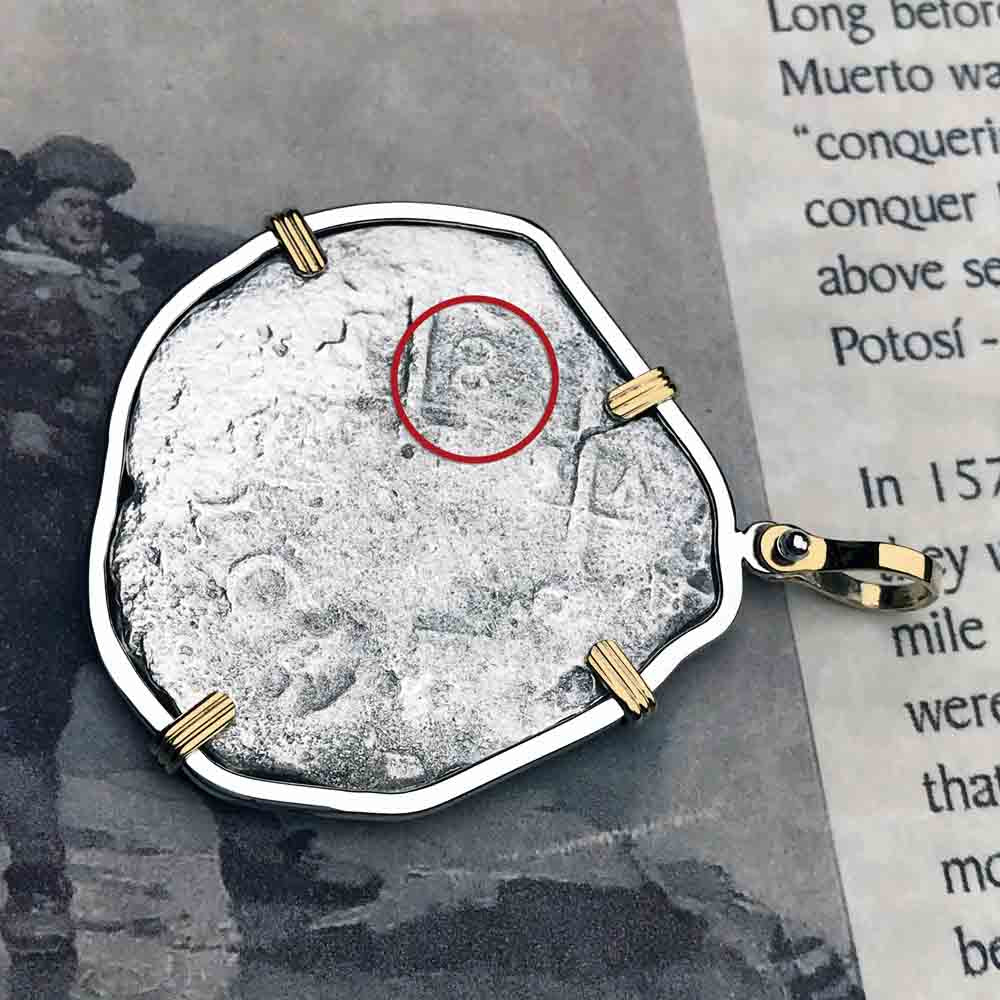 Consolacion Shipwreck Pirate Spanish 8 Reale circa 1675 Piece of Eight 14K Gold Necklace