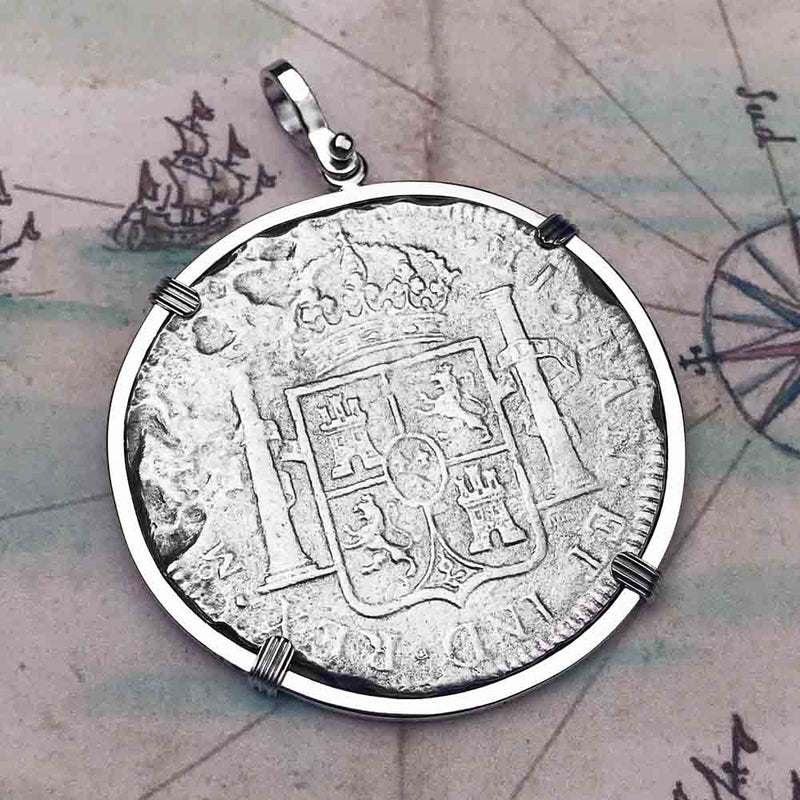 "El Cazador Shipwreck 1783 8 Reale ""Piece of 8"" Silver Treasure Coin Necklace"