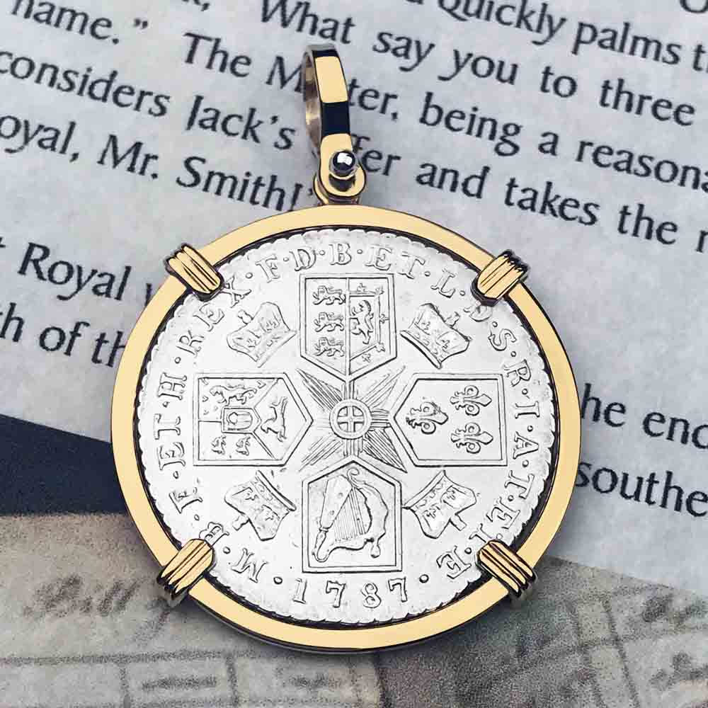 Pirates of the Caribbean Virtually Uncirculated Great Britain 1787 Shilling Necklace