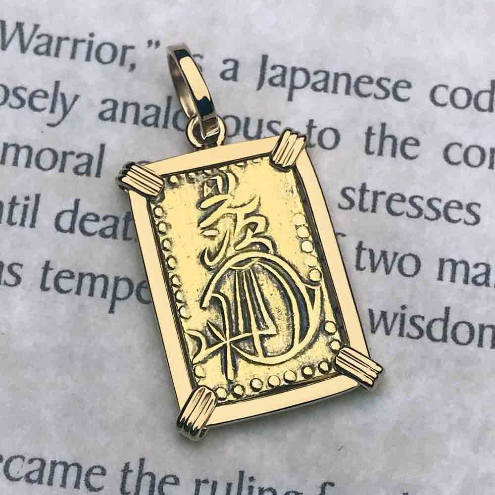 The Coins of the Last Samurai & Shogunate Gold Nibu-Kin Necklace in 14K Gold