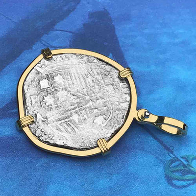Mel Fisher's Atocha Rare Assayer Pre-mother-load 2 Reale Shipwreck Coin 18K Solid Gold Necklace