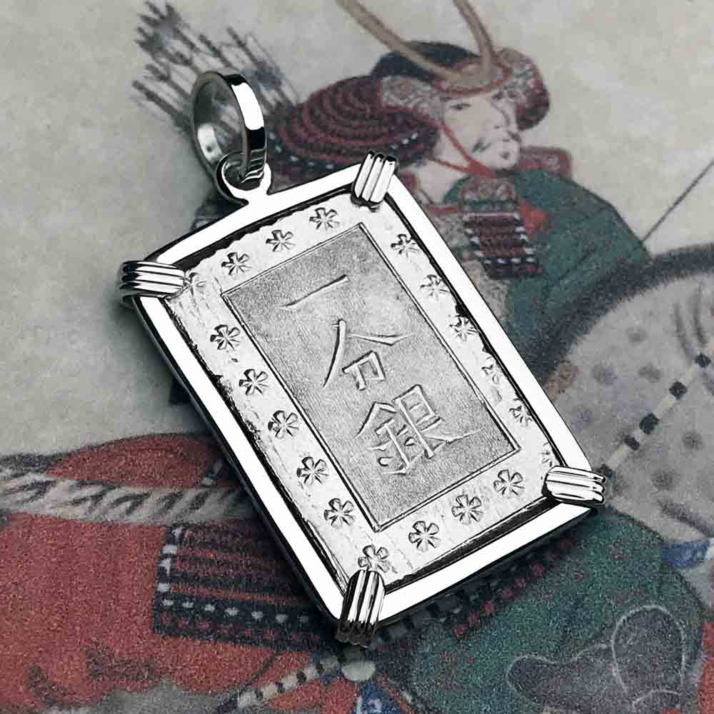 The Coins of the Last Samurai & Shogunate Ichibu-Gin Necklace in Sterling Silver