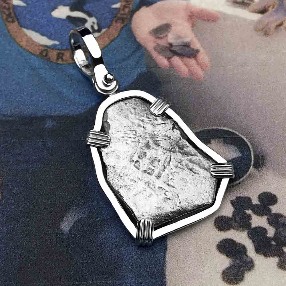 "1715 Fleet Shipwreck Spanish 1 Reale ""Piece of 8"" Sterling Silver Necklace"