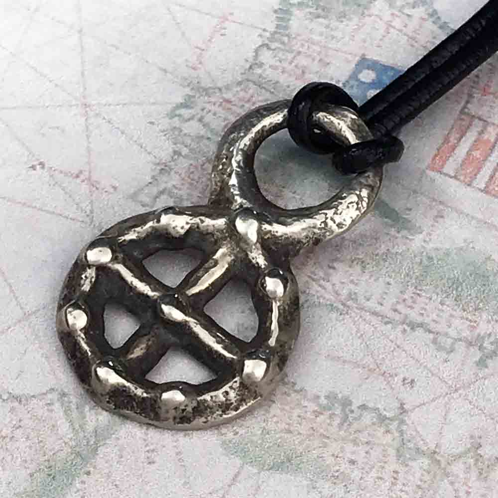 Viking Solar Cross - Odin's Cross circa 900 AD Necklace in Sterling Silver