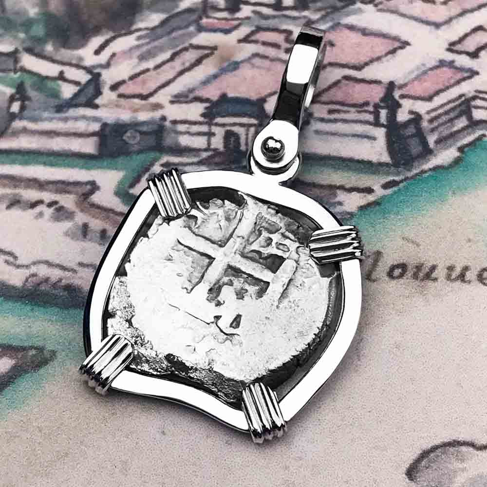 "1770 Spanish 1/2 Reale Pirate ""Piece of Eight"" Sterling Silver Necklace"