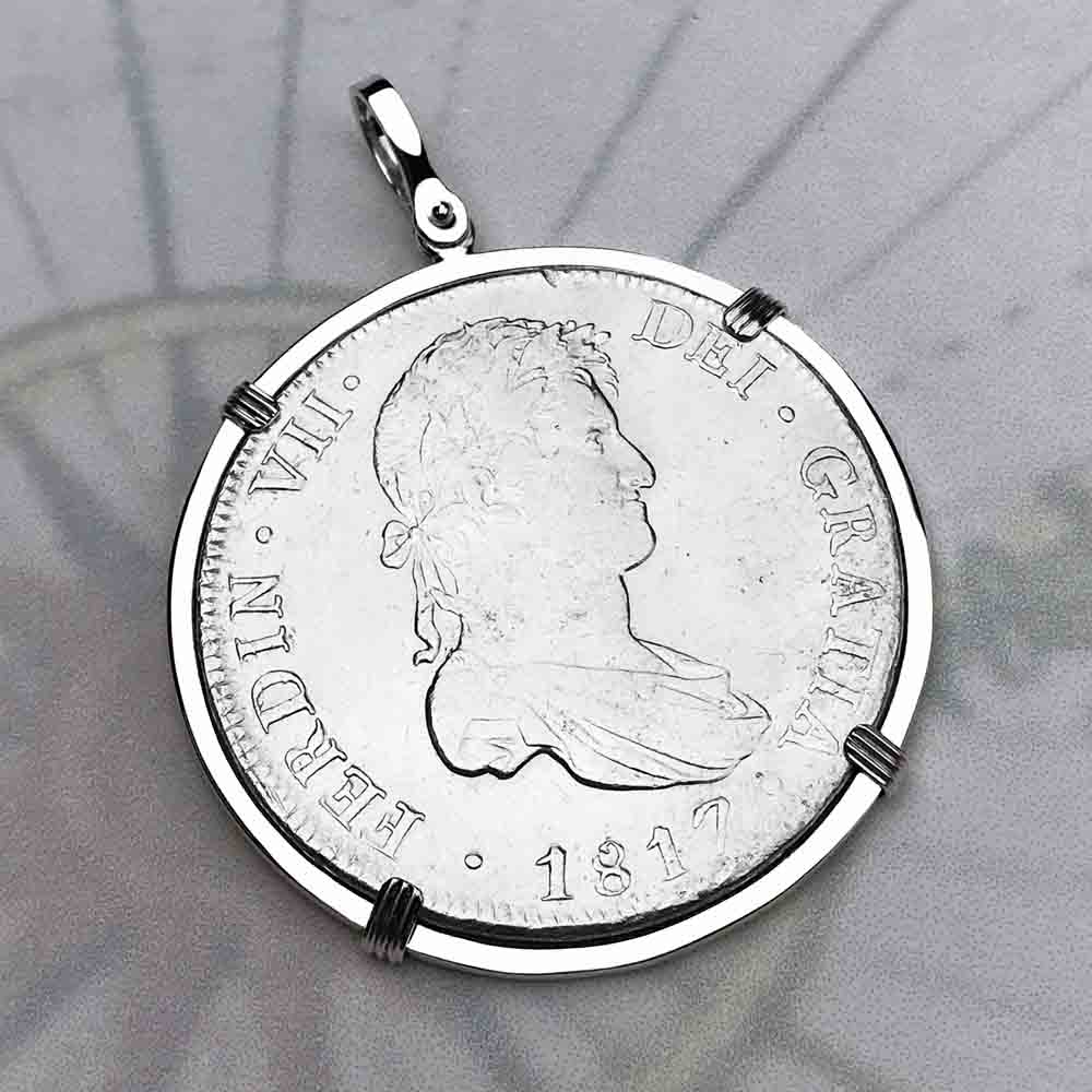 "Silver 8 Reale Spanish Portrait Dollar Dated 1817 - the Legendary ""Piece of Eight"" Necklace"