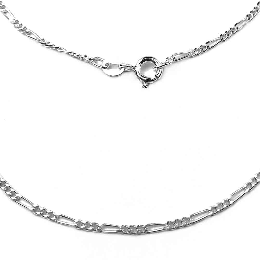1.8 mm Sterling Silver Light Figaro Chain