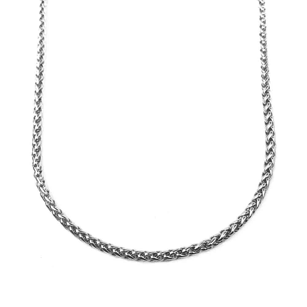 3.0 mm Antiqued Stainless Steel Wheat Chain | #C5493
