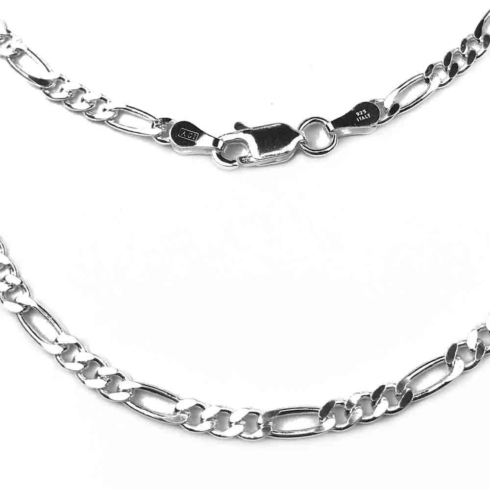 3.0 mm Sterling Silver Figaro Chain