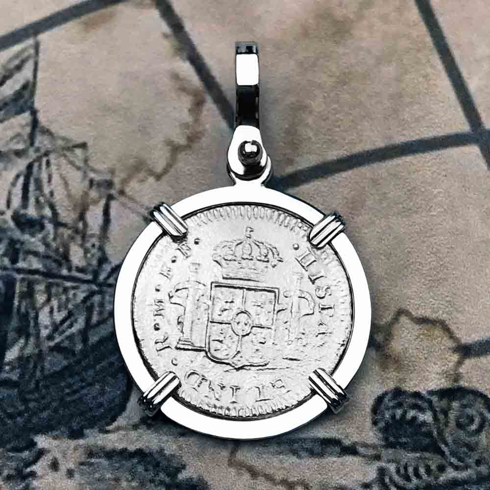 El Cazador Shipwreck 1783 1 Reale Sterling Silver Treasure Coin Necklace