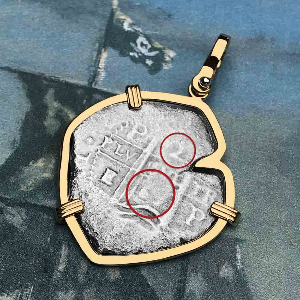 1667 Consolacion Shipwreck Pirate 2 Reale Cob 14K Gold Necklace