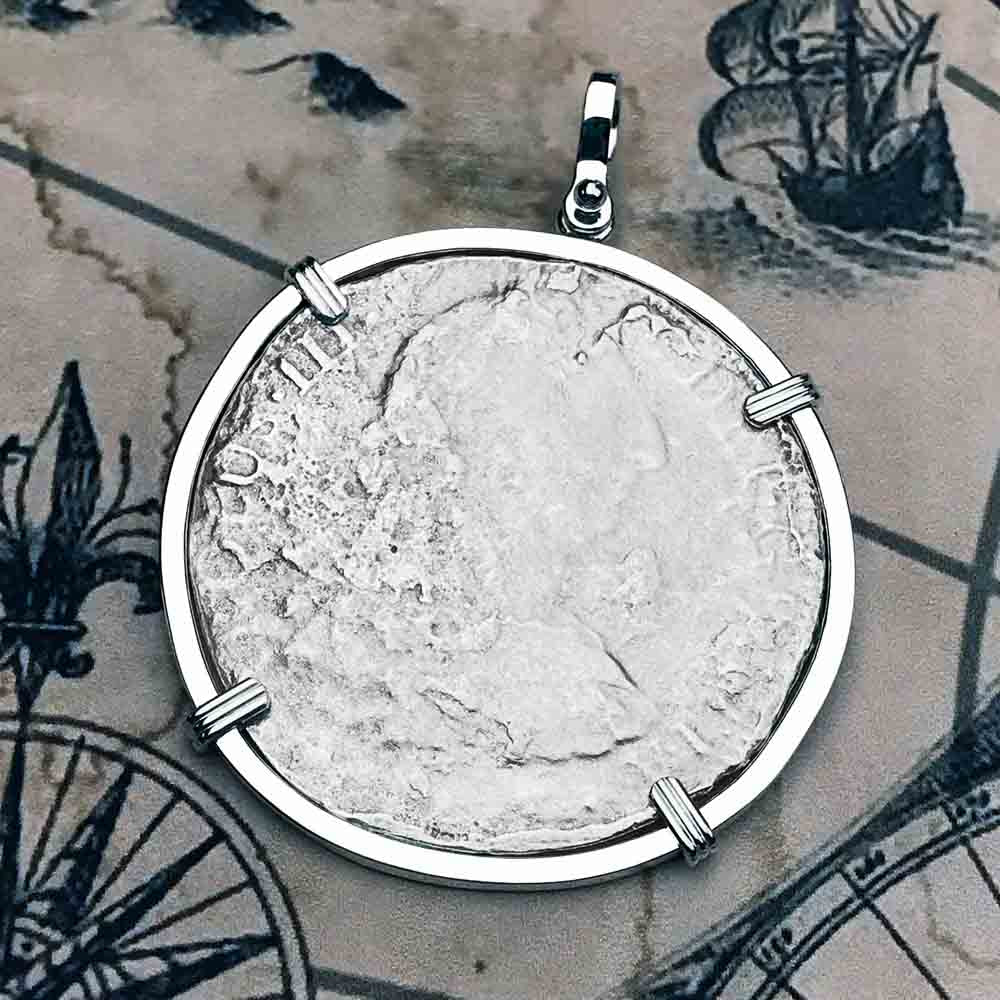 "El Cazador Shipwreck 1783 8 Reale ""Piece of 8"" Silver Treasure Coin Necklace 