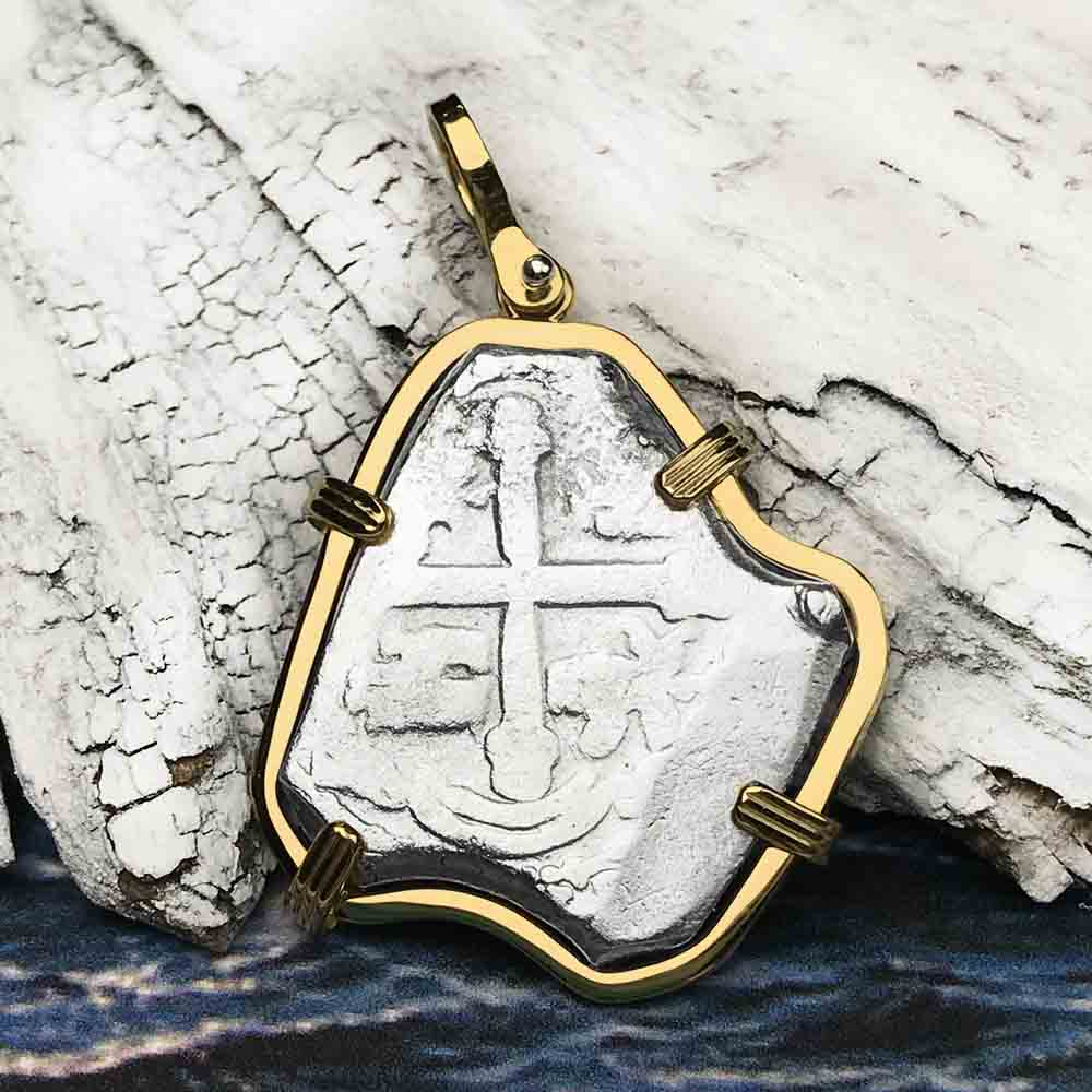 1715 Fleet Shipwreck Rare 4 Reale Piece of Eight 18K Gold Necklace - the Cobb Coin Company Collection