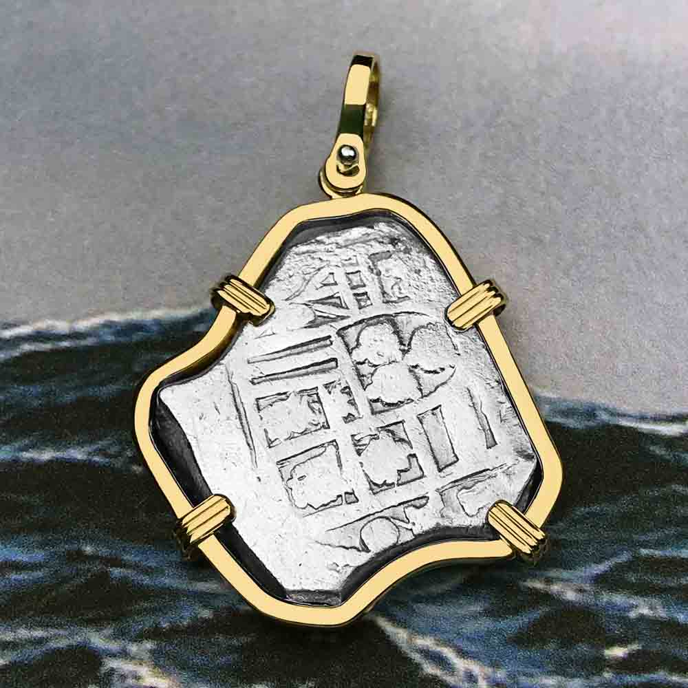 1715 Fleet Shipwreck Rare 4 Reale Piece of Eight 14K Gold Necklace - the Cobb Coin Company Collection