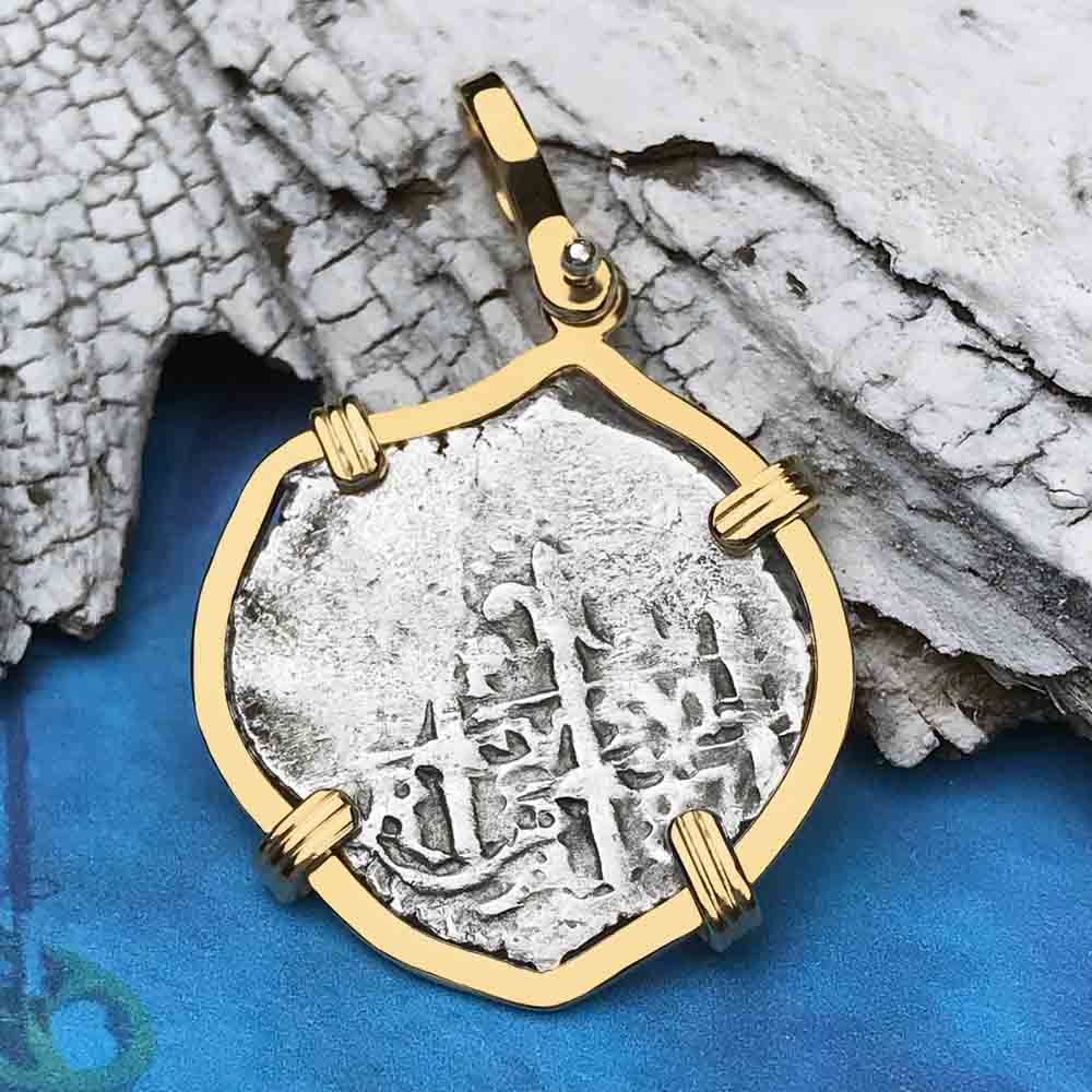 1715 Fleet Shipwreck Rare DATED 1687 1 Reale Piece of Eight 14K Gold Necklace - the Mel-Fisher-Cobb Coin Company Collection