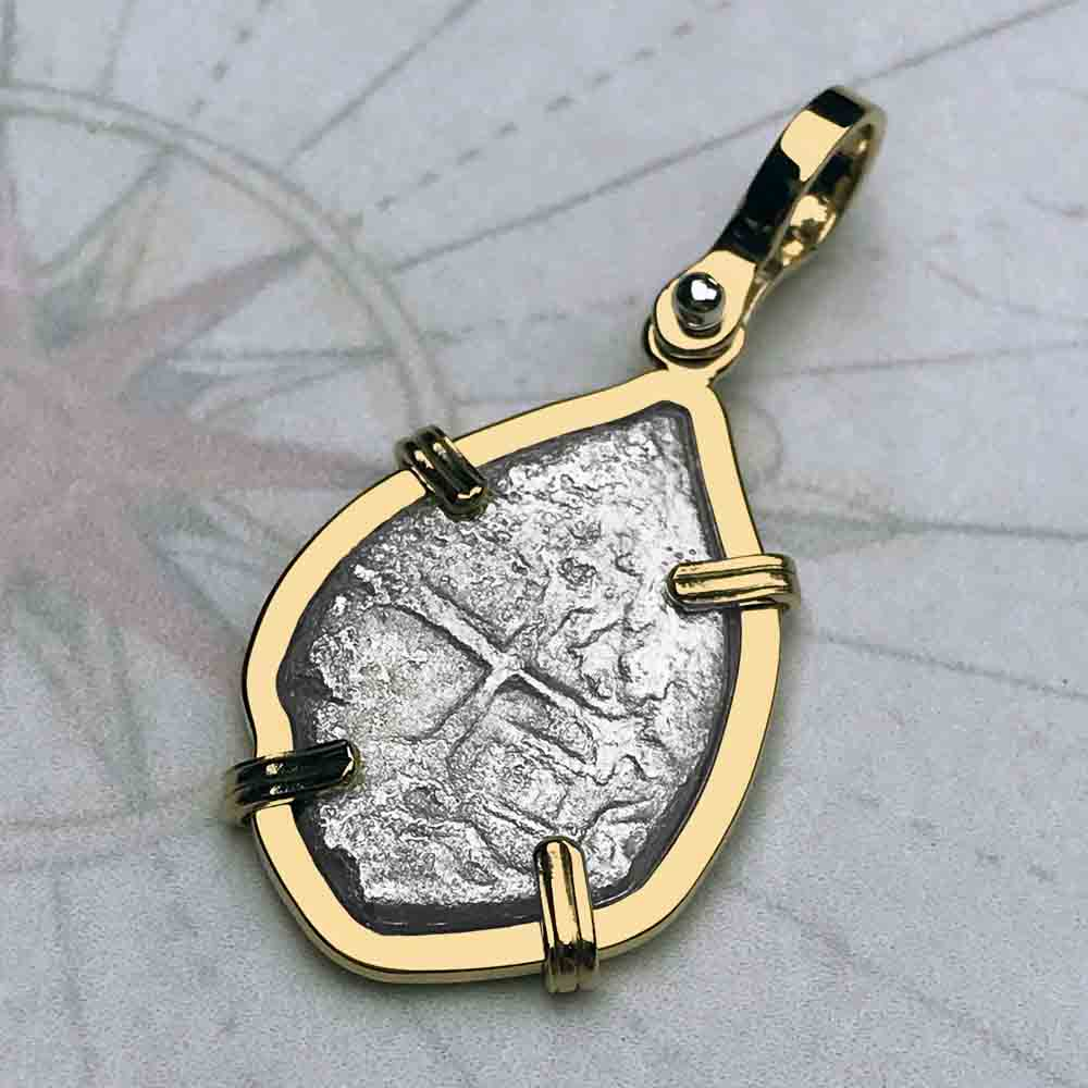 1715 Fleet Shipwreck 1 Reale Piece of Eight 14K Gold Necklace - the Cobb Coin Company Collection