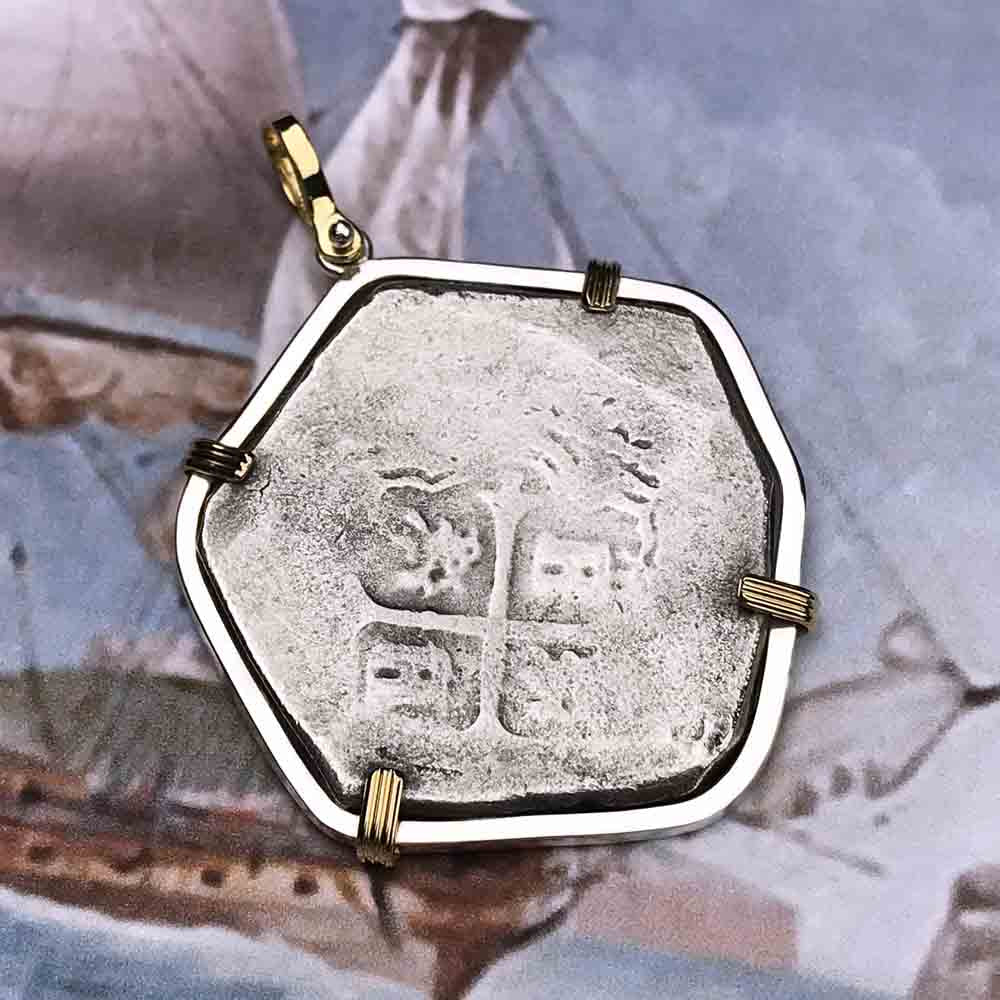 Joanna Shipwreck 8 Reale Cob Coin 18K Gold & Sterling Necklace