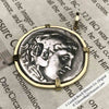 Ancient Greece Tetradrachm Alexander the Great Greek Coin circa 323 BC 18K Gold Necklace