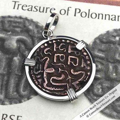 The Medieval Treasure of Polonnaruva - The Good Luck Sri Lanka Coin Necklace