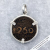 8197 Morocco Bronze 2 Falus Star of David - Sign of Solomon Coin Pendant