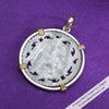 8234 Round Pierced Mother of Pearl Gaming Counter Pendant in Sterling Silver & 18K Gold