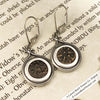 Tear-drop Biblical Widow's Mite Sterling Silver Earrings
