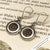 Tear-drop Biblical Widow's Mite Sterling Silver Earrings | Artifact #8319