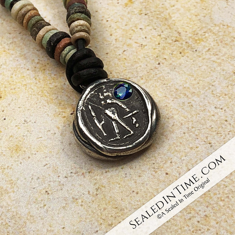 "Limited Authentic Ancient Egyptian ""Mummy Bead"" Edition: Ancient Egyptian Anubis Wax Seal Pendant 