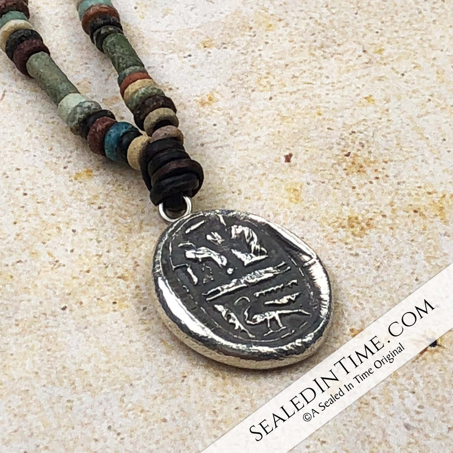 "Limited Authentic Ancient Egyptian ""Mummy Bead"" Edition: Ancient Egyptian Sacred Divine Wax Seal Pendant 