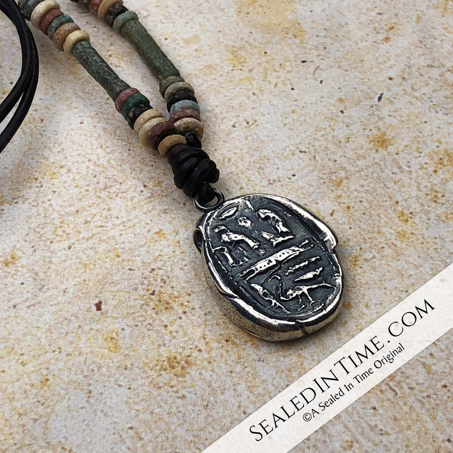 "Limited Authentic Ancient Egyptian ""Mummy Bead"" Edition: Ancient Egyptian Sacred Divine Wax Seal Pendant"