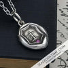 Faith & Hope Victorian Wax Seal Pendant with Pink Sapphire