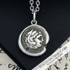 Alexander the Great Hercules Wax Seal Pendant with Blue Sapphire
