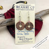Ch'ing Dynasty 1 Cash Treasure Coin Earrings with Light Rose Swarovski Crystals