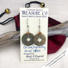 Ch'ing Dynasty 1 Cash Treasure Coin Earrings with Crystal Copper Swarovski Crystals
