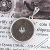 Tang Dynasty 1 Cash Treasure Coin Sterling Silver Pendant