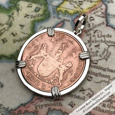 Shipwreck Coin, Chain & Leather Cord Package - Admiral Gardner Shipwreck Coin Sterling Silver Necklace | Grade 1