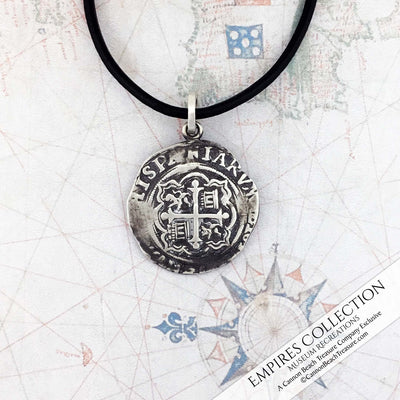 Atocha Shipwreck Coin Silver Spanish Mexico City Cob Piece of Eight 1 Reale Shipwreck Treasure Coin Museum Pendant