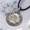 Atocha Shipwreck Coin Silver Spanish Mexico City Pillar Dollar Piece of Eight Half Reale Shipwreck Treasure Coin Museum Pendant
