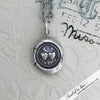 Forever Victorian Wax Seal Necklace with Blue Sapphire