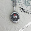 Forever Victorian Wax Seal Necklace with Ruby