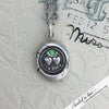 Forever Victorian Wax Seal Necklace with Tsavorite Garnet